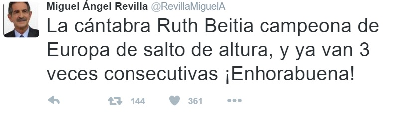 """Felicitación de Revilla a la que llamó """"la saltadora""""."""
