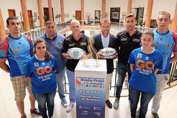 Presentación del XI Torneo Internacional de Rugby Playa de Santander