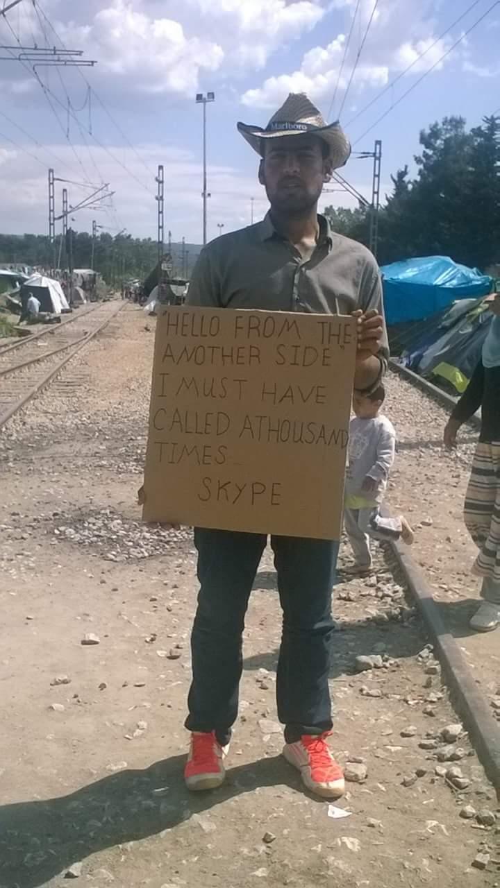 Mensajes de los refugiados que podrán verse en el MAS