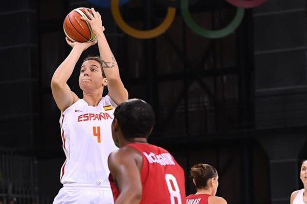 Laura Nicholls, con la selección española en los Juegos de Río de Janeiro