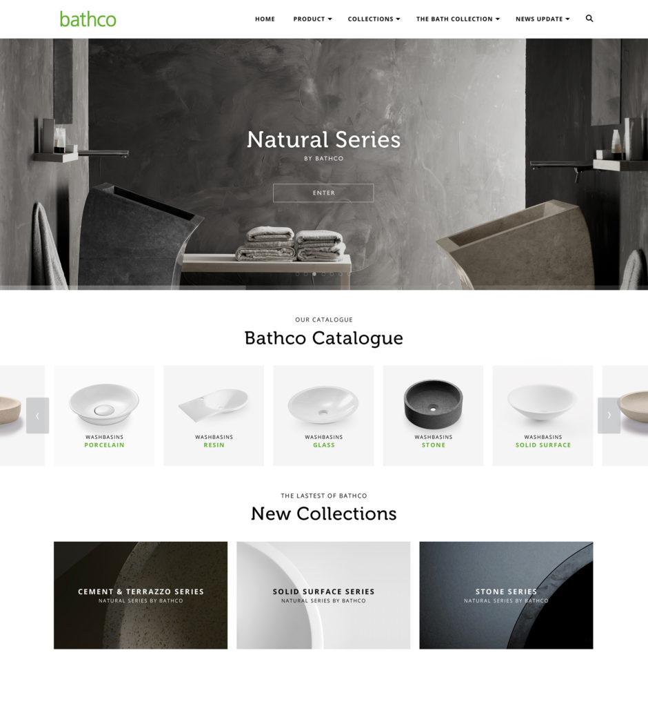 Captura de la web corporativa de Bathco, que ha sido galardonado por el Red Dot Award 2016.