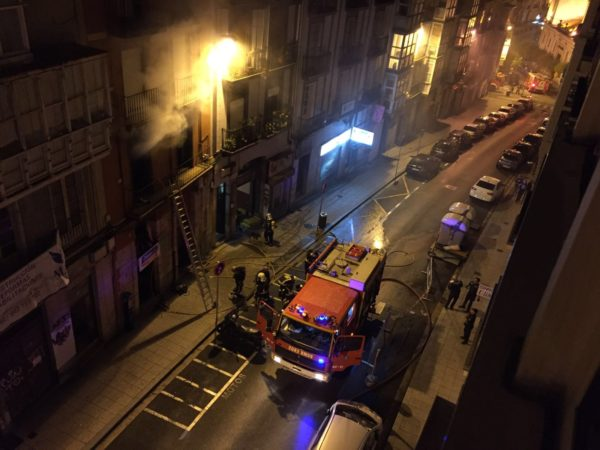 Incendio en la calle Cisneros