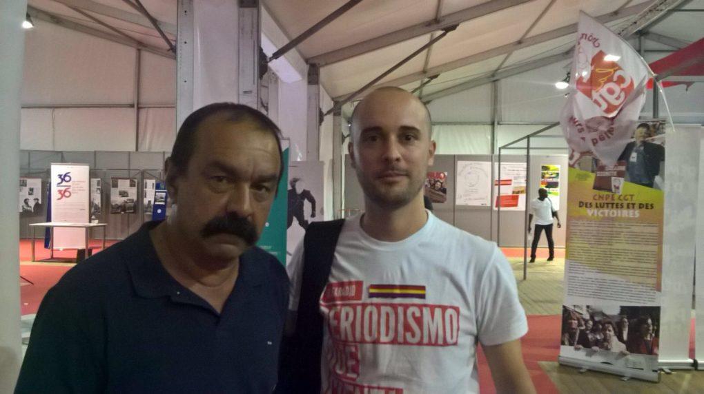 Philipe Martínez e Israel Ruiz Salmón, colaborador de EL FARADIO