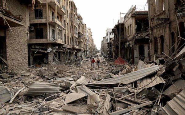 Siria en ruinas por la guerra y los bombardeos