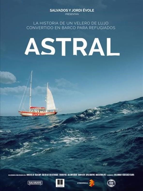 Cartel de 'Astral', la película documental de Salvados y Jordi Évole que se proyectará en varios espacios de Cantabria.