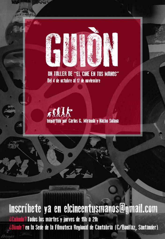 Cartel de presentación del nuevo curso de El Cine en tus Manos.