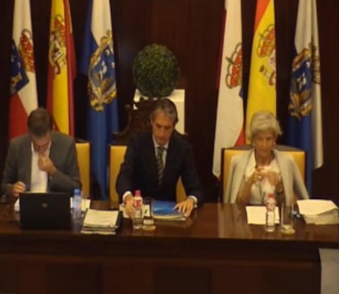 Pleno de este miércoles en el Ayuntamiento de Santander.