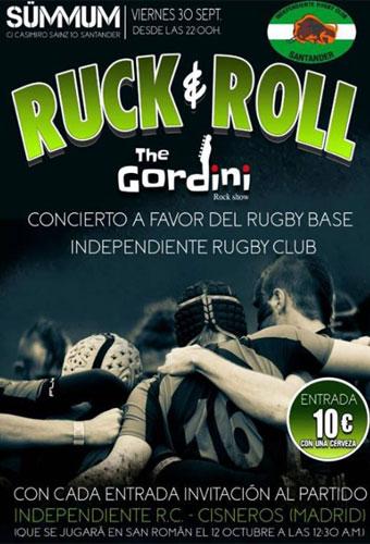 Cartel del evento benéfico Ruck&roll en la Sala Sümmum