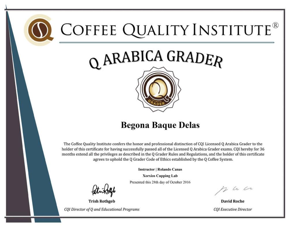 El codiciado certificado