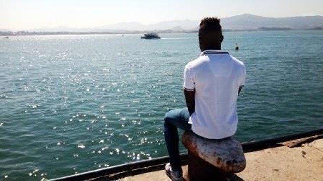 """Samuel """"K"""", el menor por quien ha surgido la preocupación por los migrantes no acompañados."""