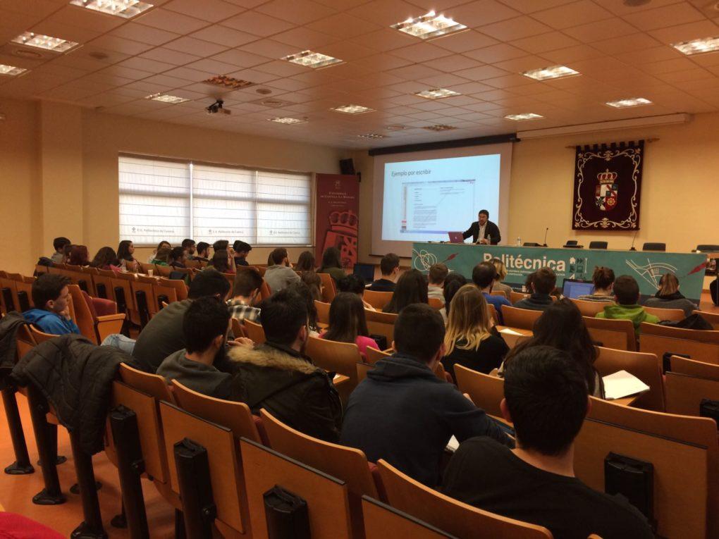 Un momento de la amterior charla en Cuenca