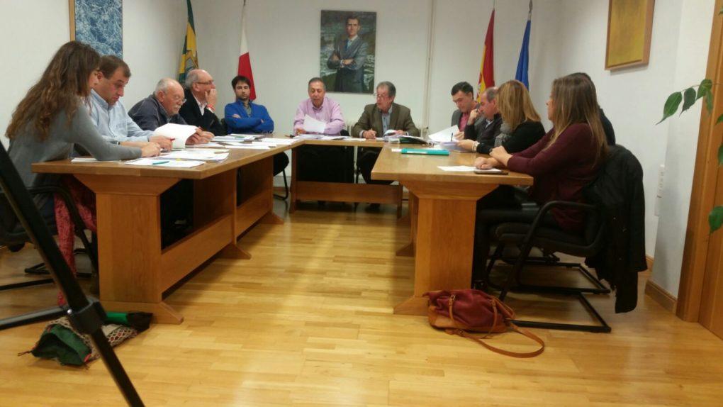 Imagen del último pleno del Ayuntamiento de Miengo.