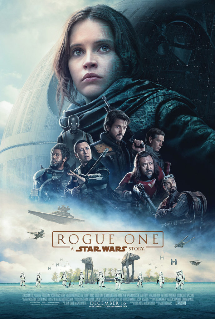 Cartel de Rogue One, la nueva película del universo de Star Wars.