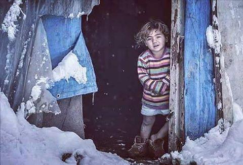 Imágenes de los campos de refugiados ante el invierno
