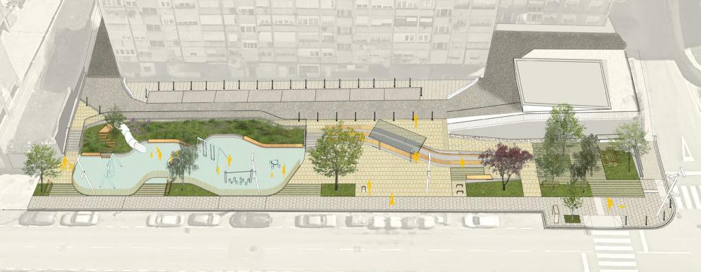 Infografía del espacio que se construirá en la calle Fernando de los Ríos.