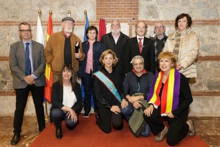 Representantes de las organizaciones impulsoras del acto de memoria histórica || Foto: Raúl Lucio