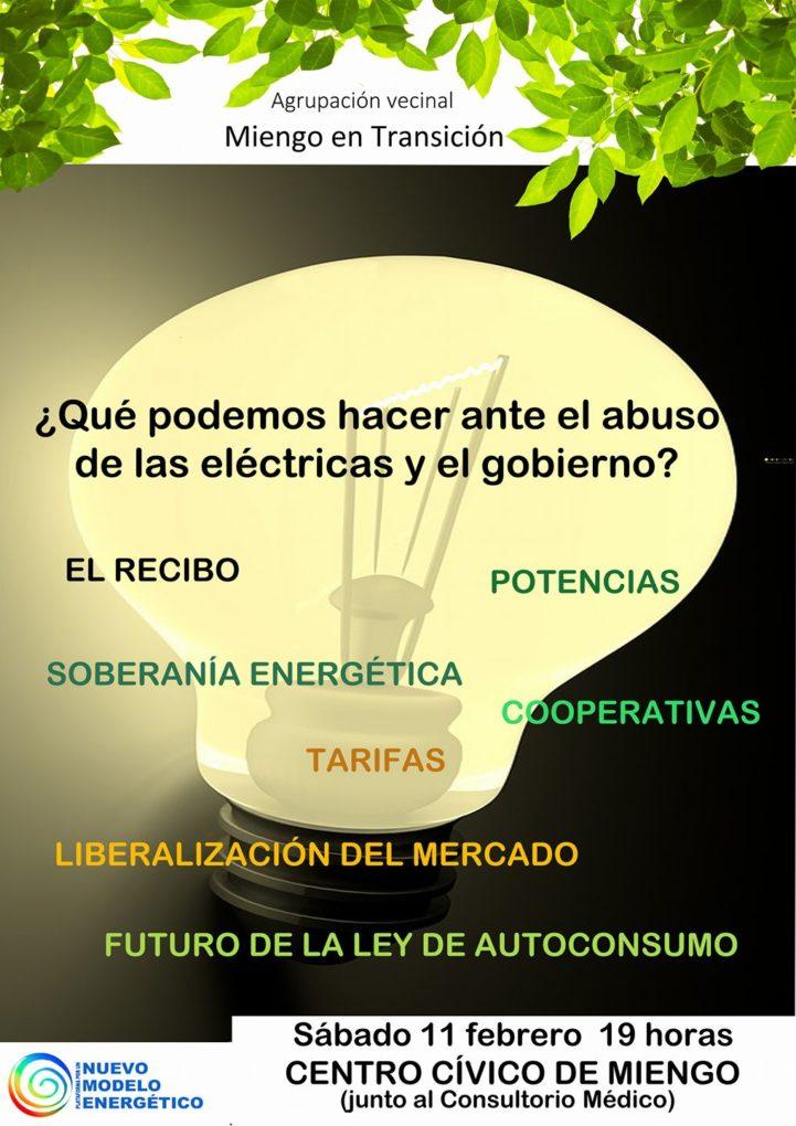 Cartel de presentación de la charla.