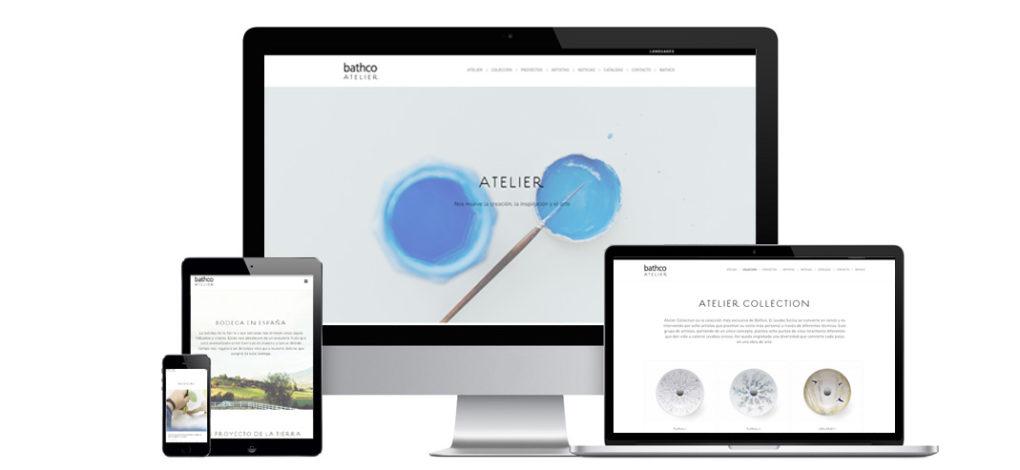 La nueva Web de Bathco para el proyecto Atelier