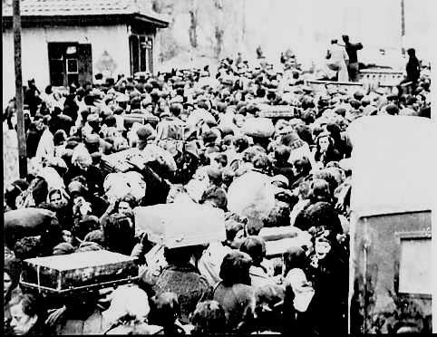 El éxodo de los republicanos españoles hacia Francia fue masivo.