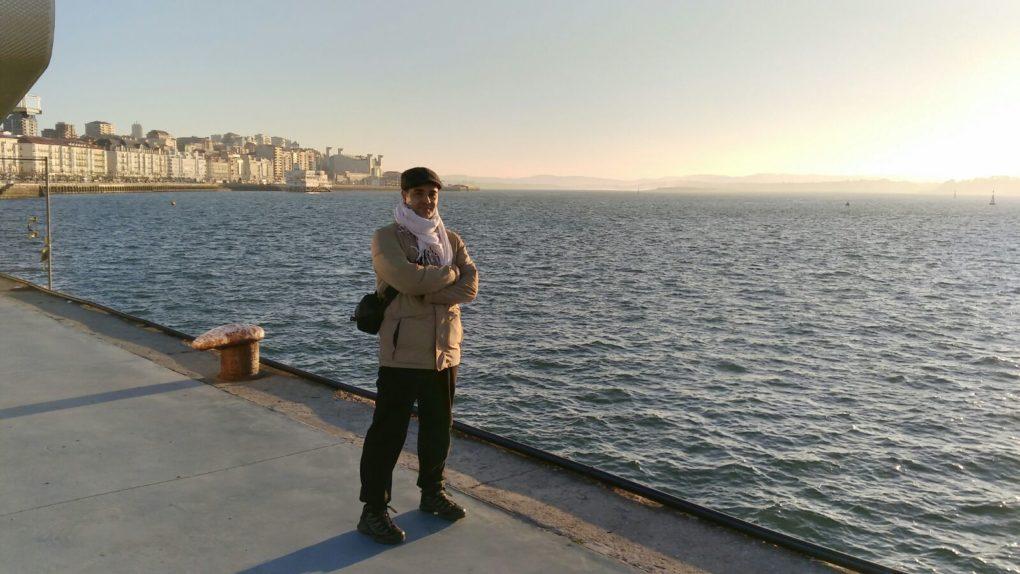 Sakana, 'El Pescao', en una visita a Santander