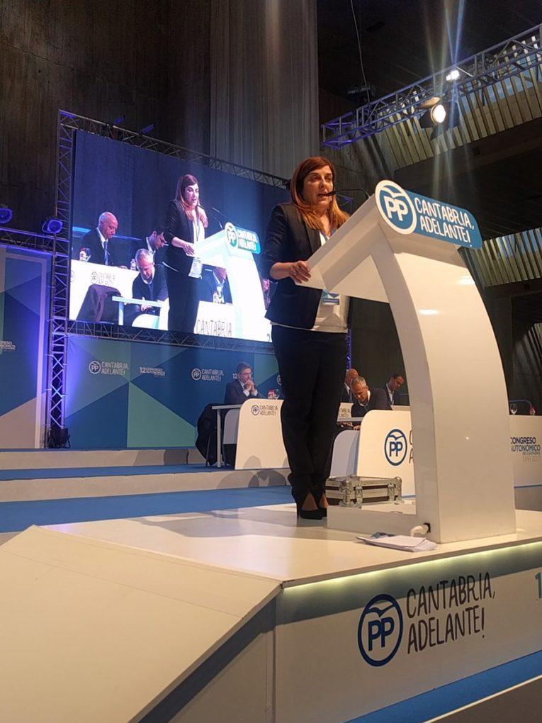 Sáenz de Buruaga, presidenta del PP de Cantabria