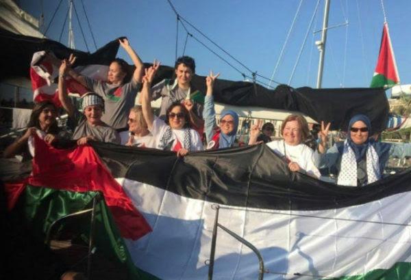 Mujeres rumbo a Gaza