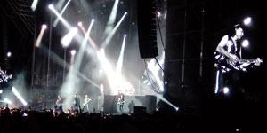 Sensacional puesta en escena visual en todo el concierto