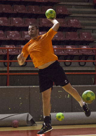 Saúl Campo, durante un entrenamiento. Foto: Saúl Ceballos
