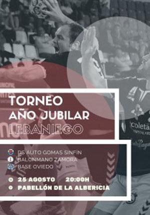Cartel del torneo en La Albericia. Foto: DS Auto Gomas Sinfín