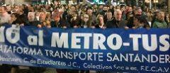 Protesta contra el Metrotus
