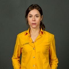 Ruth Díaz, con el uniforme de presa de 'Vis a vis'