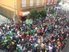 Manifestación la semana pasada frente al Gobierno