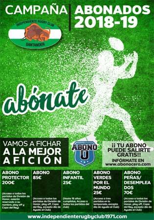 Cartel de la campaña de abonados del Senor Independiente