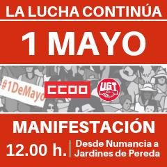 La manifestación será el miércoles, de Numancia a Pereda