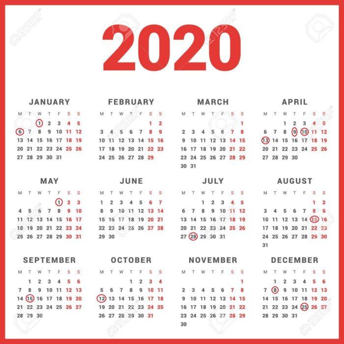 Calendario Laboral 2020.Jueves Santo Y El Lunes De Pascua Volveran A Ser Festivos En