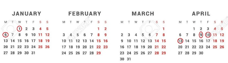 2020 Calendario Laboral.Jueves Santo Y El Lunes De Pascua Volveran A Ser Festivos En