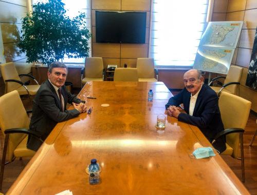 Reunión entre Pedro Saura y José María Mazón. Foto: PRC